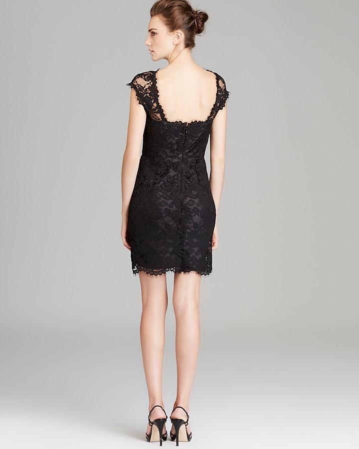 Shoshanna Cap Sleeve Lace Dress - Olivia
