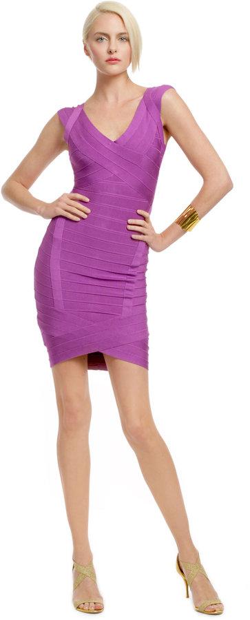 Herve Leger Lilac Infused Cocktail Dress