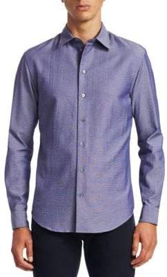 Emporio Armani Seersucker Button-Down Shirt