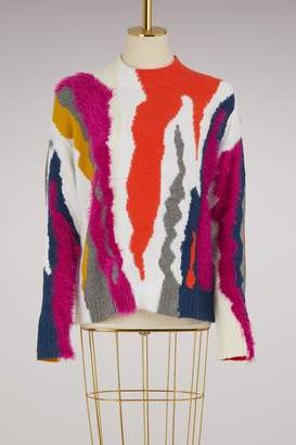 Kenzo Round Collar Straight Wool Sweater
