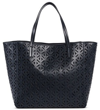 Merona Women's Faux Leather Perforated Tote Handbag $39.99 thestylecure.com