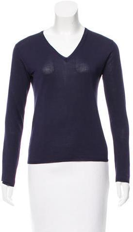 pradaPrada Silk V-Neck Sweater