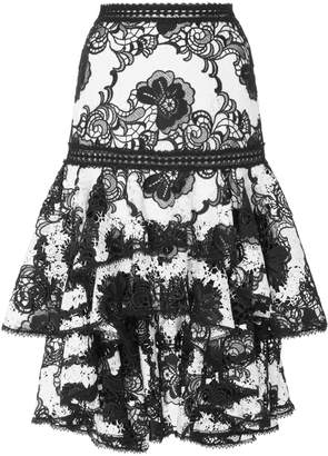 Alexis Halima High Low Ruffle Skirt