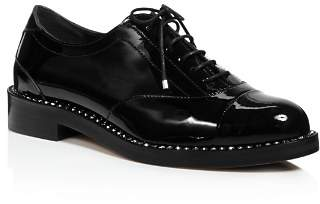 Jimmy Choo Women's Reeve Crystal-Trimmed Patent Leather Oxfords