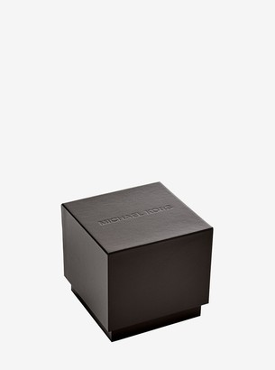 Michael Kors Slim Runway Gold-Tone Stainless Steel Watch