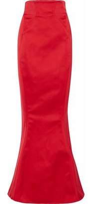 Zac Posen Fluted Duchesse-Satin Maxi Skirt