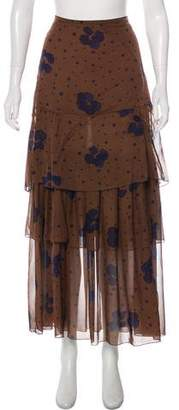 See by Chloe Printed Maxi Skirt