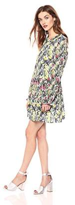Daisy Drive Women's Lila Tulip Print Long Sleeve Dress