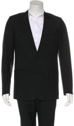 Christian Dior Embroidered Wool & Mohair Blazer