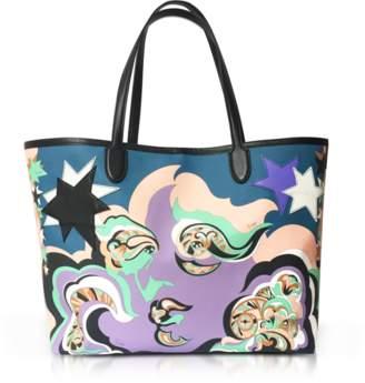 Emilio Pucci Pink Avio Coated Canvas Tote Bag w/Pouch