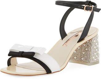 Sophia Webster Andie Mid-Heel Ankle-Wrap Sandal