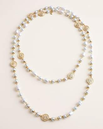 Chico's Chicos Faux-Pearl Single-Strand Necklace