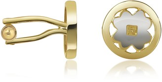 A-Z Collection Four-Leaf Clover Gold Plated Cuff Links