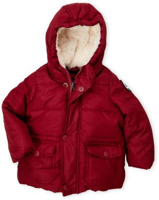 Ben Sherman Infant Boys) Burgundy Hooded Bubble Jacket