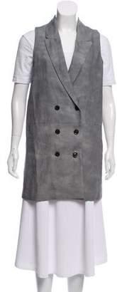 Marissa Webb Linen Button Up Vest