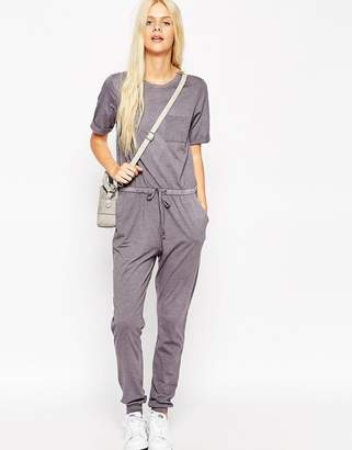 Asos Design Washed Casual Jumpsuit with Drawstring