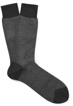 Tom Ford Herringbone Cotton Socks
