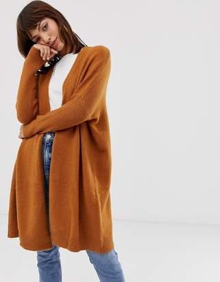 Asos Design DESIGN eco oversize cardigan in fluffy yarn
