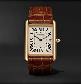 Cartier Tank Louis 34mm 18-Karat Gold And Alligator Watch