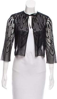 Anna Sui Long Sleeve Lace Cardigan