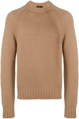 Prada chunky knit crewneck sweater