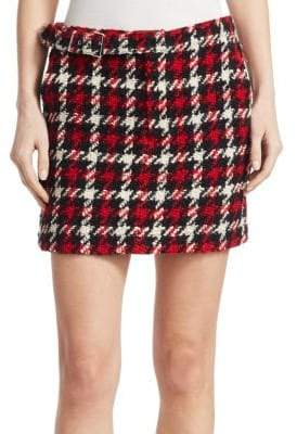 McQ Belted Wool Mini Skirt