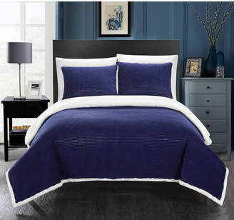 Chic Home Lancy 3-Pc Full/Queen Sherpa Blanket Bedding