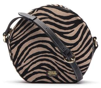Lulu Frances Valentine Frances Valetine Genuine Calf Hair Round Crossbody Bag