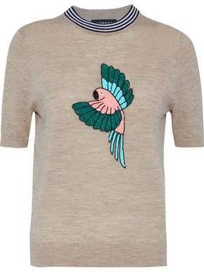 Markus Lupfer Devon Embellished Merino Wool Top