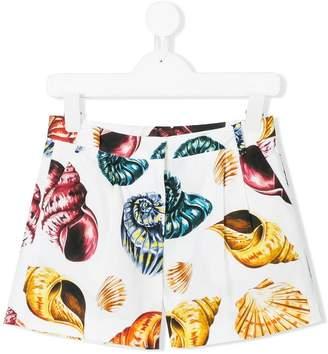 Dolce & Gabbana shell print shorts