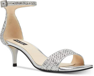 74d00e73ca31 Nine West Leisa Two-Piece Kitten Heel Sandals Women Shoes