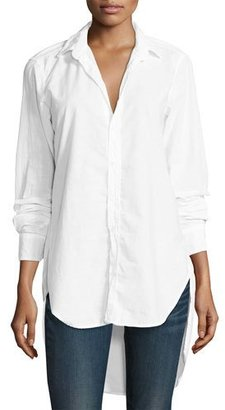 Frank & Eileen Grayson High-Low Button-Down Shirt, White $238 thestylecure.com