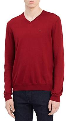Calvin Klein Men's Merino Sweater Vneck