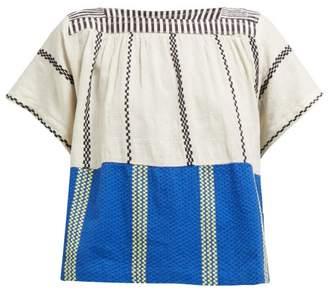 Ace&Jig Vista Aztec Striped Cotton Voile Top - Womens - Blue