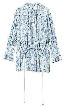 Tibi Women's Toile Print Gathered Shirtdress