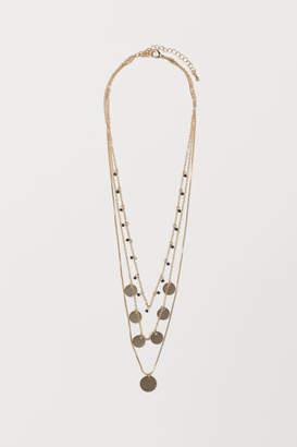 H&M Triple-strand Necklace - Black