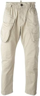 DSQUARED2 elasticated waist cargo trousers