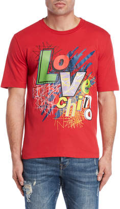 Love Moschino Scribble Logo Tee