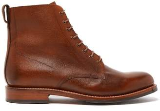 Grenson Murphy Grained Leather Lace Up Boots - Mens - Tan
