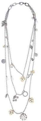 Alexander McQueen Mother Of Pearl, Faux Pearl & Enamel Multistrand Necklace