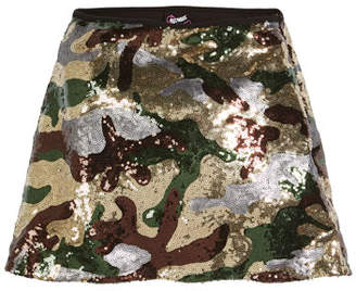 Flowers by Zoe Sequin Camo A-Line Skirt, Size S-XL