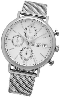 Co SO & Ny Men'S Monticello Chronograph Stainless Steel Mesh Bracelet Dress Quartz Watch J160P91