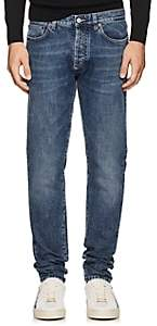 Givenchy Men's Lightning-Bolt-Stitched Skinny Jeans - Blue