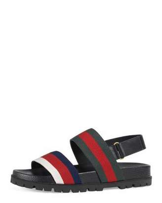 Gucci Rimini Double-Strap Sandal, Multicolor $495 thestylecure.com