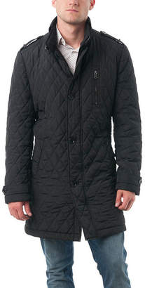 VERNO Verno Fashion Mens' Polyester Quilted Car Coat