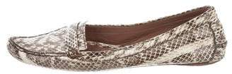 Tabitha Simmons Python Round-Toe Loafers