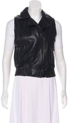 Barneys New York Barney's New York Leather Notch-Lapel Vest