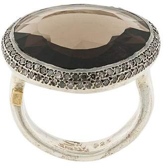 Rosa Maria smokey quartz and diamond ring