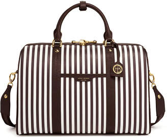 Henri Bendel Centennial Stripe Weekend Duffle