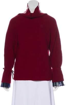 Sacai Wool-Blend Long Sleeve Sweater
